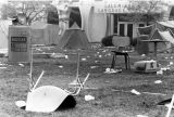 Waste on campus mall, 1977-1978