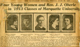 Newspaper article about 1913 Commencement at Marquette, June 20, 1913