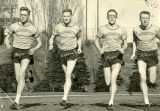 Marquette runners share the track, 1951