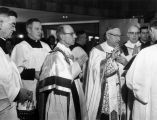 Archbishop William E. Cousins blesses the new Wehr Life Sciences Building, 1962