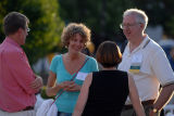A group of alumni engage in conversation during Alumni Reunion Weekend at Marquette, 2007