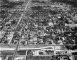 Aerial photo of Marquette University and surrounding neighborhood, circa 1962