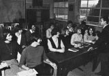 A tutorial session at the Marquette Study Center at the University of Madrid, Spain, circa 1965