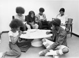 Educational Opportunity Program students study in a group, 1975