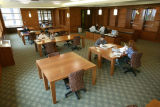 Students study in the archives reading room, 2003