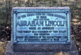 Plaque commemorating Abraham Lincoln's speech on the State Fairgrounds