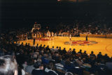 The men's basketball team plays a game at the MECCA, 1984-1986