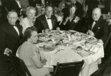 Judge Francis X. Swietlik (right) attends a dinner function