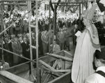 Archbishop Moses Kiley presides over the laying of the cornerstone for Marquette's College of...
