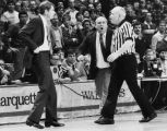 Rick Majerus reacts to a call by a referee