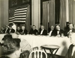 Dignitaries at the speakers' table at Father Albert Fox's farewell banquet, January 30, 1928