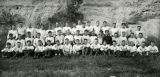 Marquette University football team at Lake Beulah, 1924 or 1925