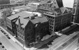 Aerial view of the Marquette campus, looking south from 11th Street and Wisconsin Avenue, circa...