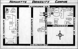 Marquette University campus map, 1937
