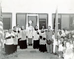 Dedicating the Convent Home, Immaculate Heart of Mary Church, LaFayette, Louisiana, 1944
