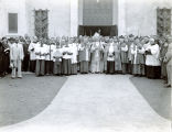 Dedicating Immaculate Heart of Mary Church, LaFayette, Louisiana, 1935