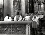 Clergy at Mass honoring Dr. Martin Luther King, Jr., Cathedral Basilica of St. Louis, St. Louis,...