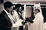 Bishop Povish installing Four Ministers of Service, Flint, Michigan, 1978
