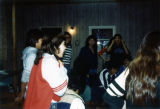 Singing by Drum at Class Retreat, St. Joseph's Indian School, Chamberlain, South Dakota, 1982