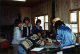 Craft Project at Class Retreat, St. Joseph's Indian School, Chamberlain, South Dakota, 1982