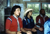 Praying at Class Retreat, St. Joseph's Indian School, Chamberlain, South Dakota, 1982