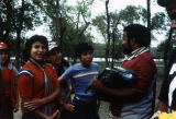 Gathered by Boombox at Class Retreat, St. Joseph's Indian School, Chamberlain, South Dakota, 1982