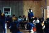 Reading Scripture at Class Retreat, St. Joseph's Indian School, Chamberlain, South Dakota, 1982
