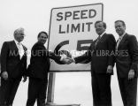 65 mph speed limit bill signing; June 17, 1987