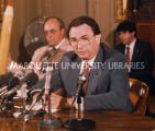 Finance press conference; June 1987