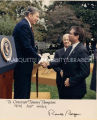Thompson and President Reagan; c.1987-1988