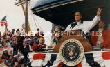Bush campaign train; October 1992