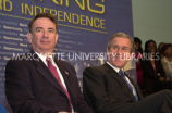 Thompson and Bush at Welfare event; February 26, 2002
