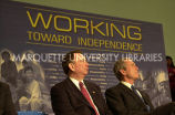 Thompson and President at welfare reform event, February 26, 2002