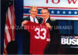 Bush and Thompson at election event, 2000
