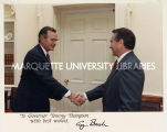 President George H.W. Bush and Tommy Thompson, September 20, 1989