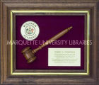 Framed Wooden Gavel from Wisconsin State Assembly, ca. 1987