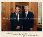 Tommy Thompson and Canadian Prime Minister Brian Mulroney, April, 1988