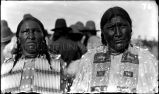 Mrs. Ralph Eagle Feather and Mrs. Jake Grumbling Bear, n.d.