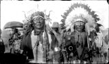 Two men in full native dress, n.d.