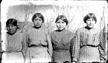 Four Sicangu girls in springtime, n.d.