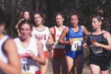 Carrie Lane runs cross-country race, 1993-1996