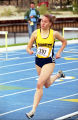Megan Plante runs outdoor race, 1999