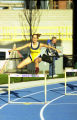 Lisa Brennan-Lundqvist jumps hurdle, 2000