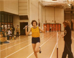 Terri (Miles) Harrington running with baton, 1979
