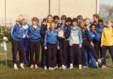 Women's track team with the Spirit Award, 1982