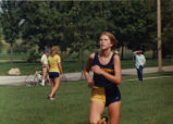 Mary Anne (Ferguson) Burke running cross-country, 1981