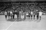 Women's track team announced as MCC Champions at Bradley Center, 1991