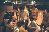 Women's basketball team takes a timeout, 1979-1983