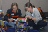 Marquette students build structures out of donated food items, 2004
