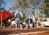 Marquette students get ready to pour a foundation, 1997